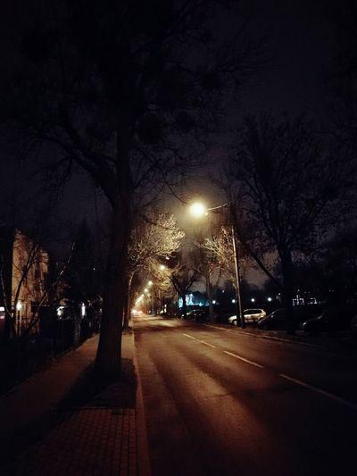 Night Road No People Street Light Outdoors