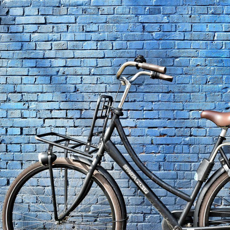 Outdoors Bicycle Bicycles Of Amsterdam Travel Worldcaptures Wanderlust Explore Europe Amsterdam Bikesofinstagram Blue Minimalism