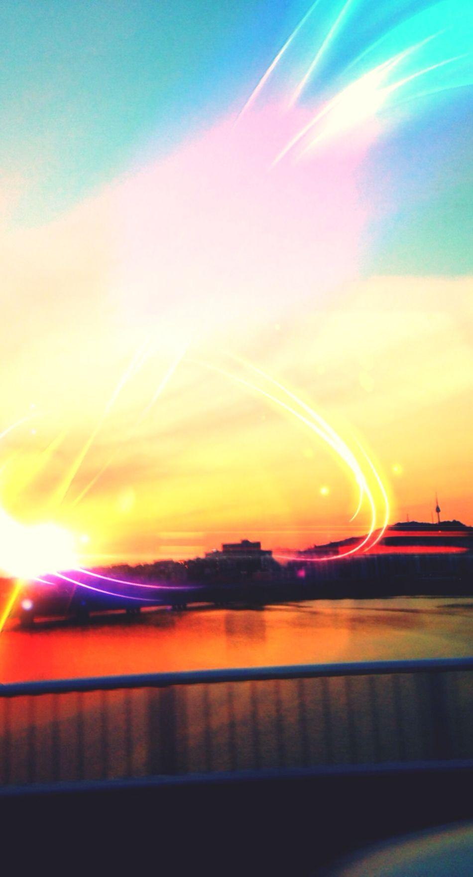 Digital Art Sun Sunset Enjoying The Sun