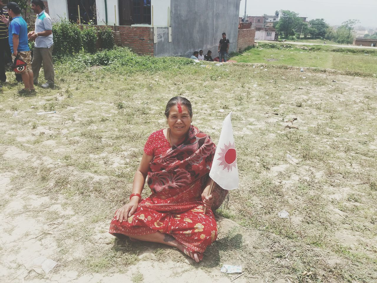 Local election in Nepal Uml Flag Love To Take Photos ❤ Love To UML Women Election Campain Famous Party In Nepal people like election Smiling
