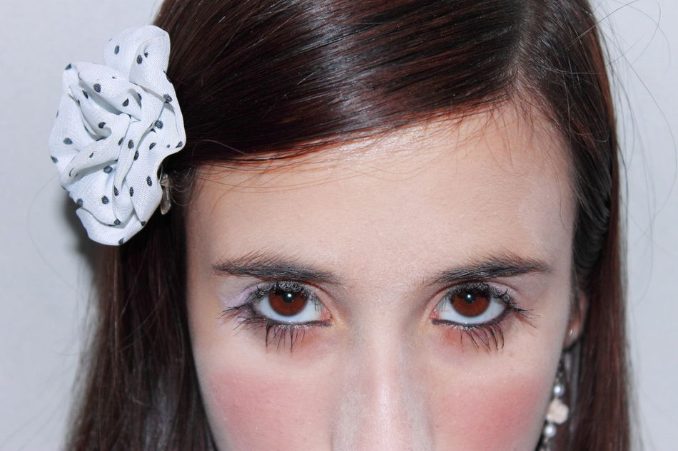 Beautiful stock photos of make-up, Black Hair, Brown Eyes, Close-Up, Colored Background