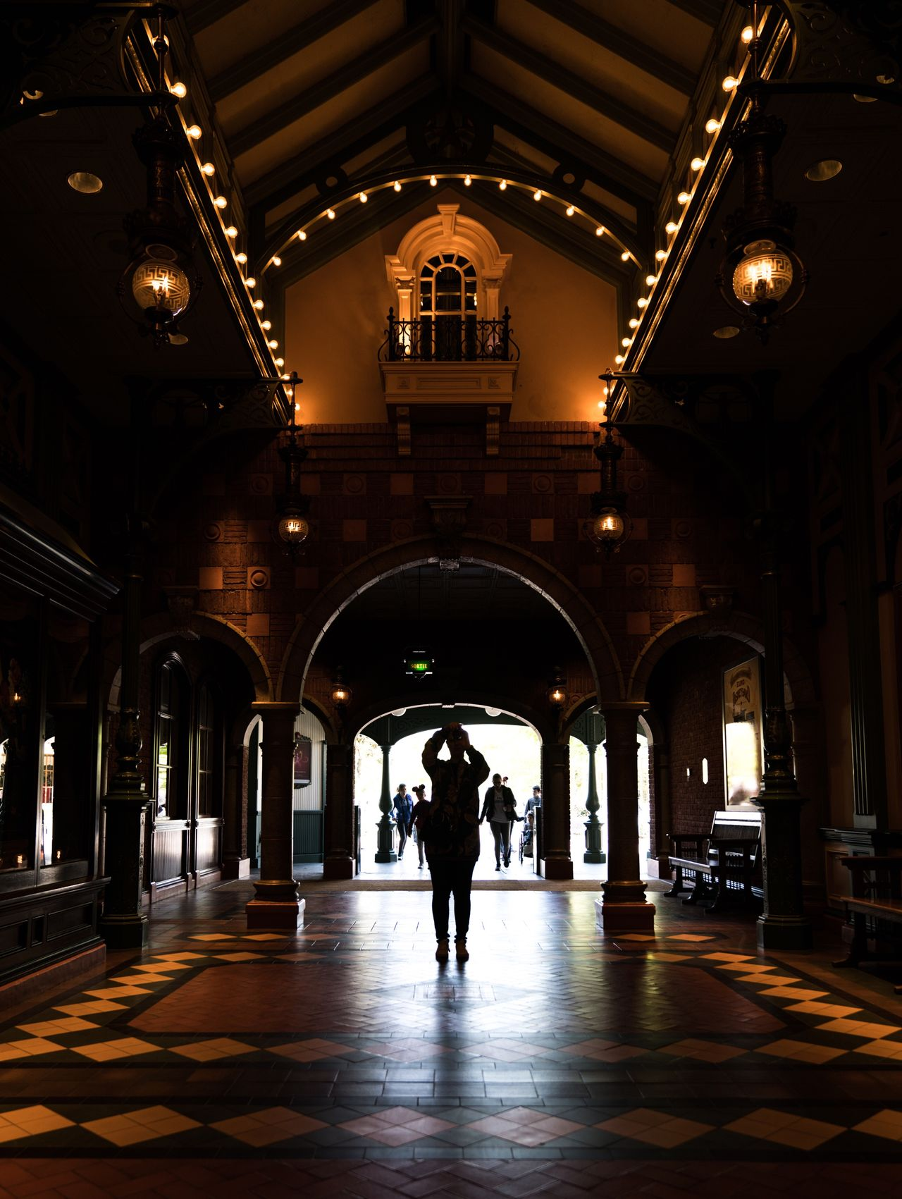 Picture Perfect. Arch Indoors  Architecture Corridor Built Structure Silhouette Disney Disneyland Disneyland Paris Taking Photos Taking Pictures Theme Park Hallway Light And Shadow