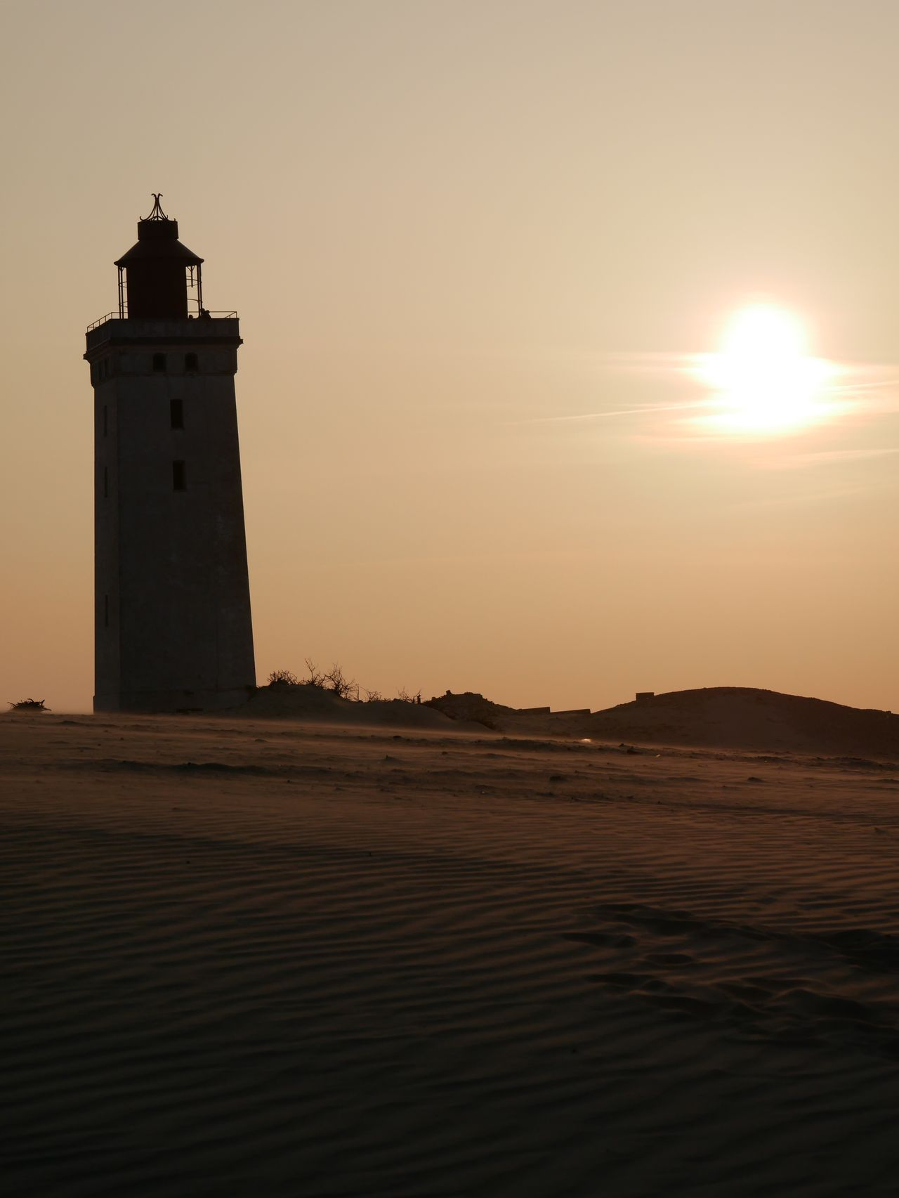 Sunset Lighthouse Silhouette Sky Architecture