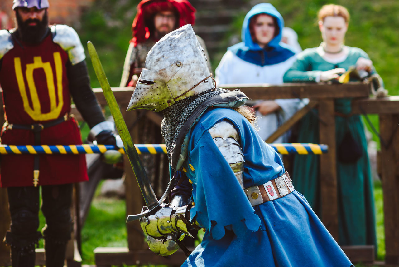 Knight Armour Day Events Festive Field Focus On Foreground Hanseatic Helmet Mammal Men Outdoors People Real People Tree