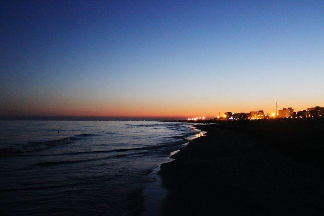 Italy Bibione Beach Night
