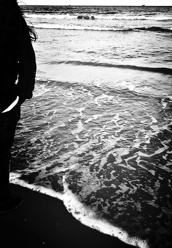 Sea Water Love Black And White