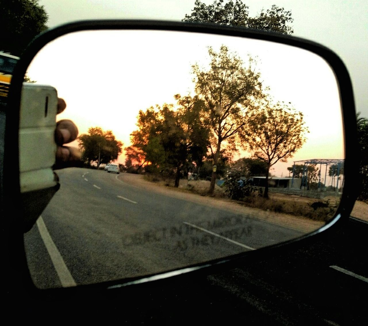 Land Vehicle Car Side-view Mirror Driving Mode Of Transport Vehicle Mirror Road Sunset Sunset Lovers Sunset_captures Eye Em Nature Lover Phoneography EyeEm Incredible India EyeEm Gallery Be With Someone That Makes You Happy.  With Love From India💚 truly..urs.. Nitin 😊