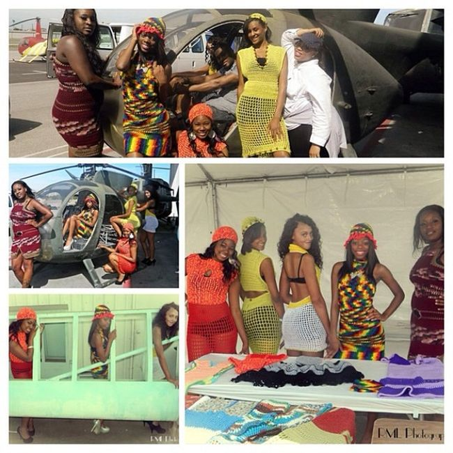 Love modeling with these lovely girls... Photos done by @raewelldressed Airshow Bathingsuitcovers Crochet Compton