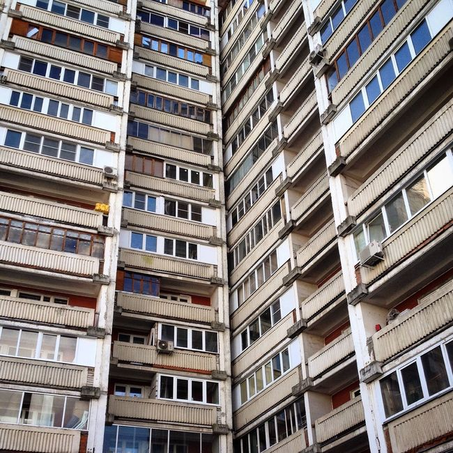 Apartment Architecture Balcony Building Exterior Built Structure City City Life In A Row Low Angle View Moscow Outdoors Repetition Residential Building Residential Structure Russia Soviet Architecture Soviet Blocks Soviet Buildings Soviet Union Pattern