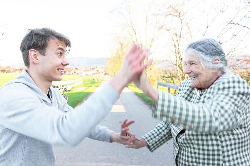 Beautiful stock photos of granny,  18-19 Years,  80 Plus Years,  Adult,  Bonding