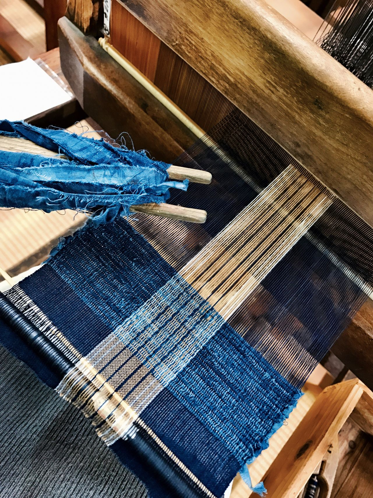 機織り 機織機 機織 日本 Japan Aichi 知多木綿 Weaving Experience Weaving