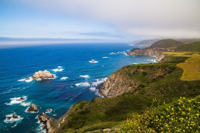 "The Big Sur Adventure Series - The Promised Land: Hurricane Point ""Big Sur is the California that men dreamed of years ago, this is the Pacific that Balboa looked at from the Peak of Darien, this is the face of the earth as the Creator intended it to look."" Sea Scenics Nature Horizon Over Water Sky Beauty In Nature Outdoors Water No People Day Discovering Idyllic Adventure Big Sur Clouds And Sky Scenic Lookout Landscape Tranquility Nature Cloud - Sky Beauty In Nature Green Color Beautiful Nature Landscape_Collection Landscape_photography The Great Outdoors - 2017 EyeEm Awards"