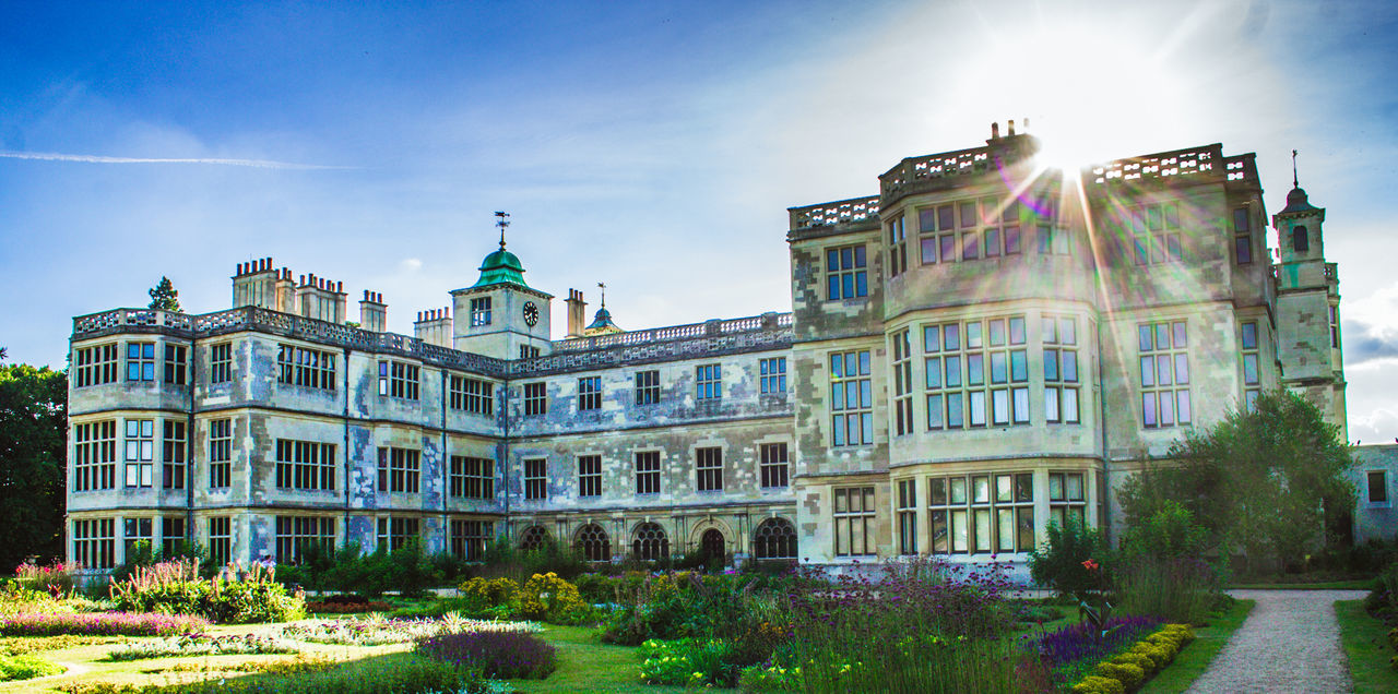 Government Politics And Government Flag Politics Architecture Democracy Patriotism Politician No People Travel Destinations Outdoors Day Sky Audley End Architecture Grass Building Exterior Light Flares Sunbeam EyeEmNewHere The Architect - 2017 EyeEm Awards
