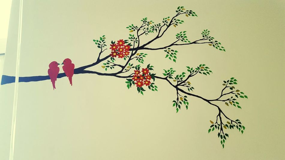 My Painting PaintingStyle My Unique Style Painting Bird Red Bird Wall Painting Wall Art