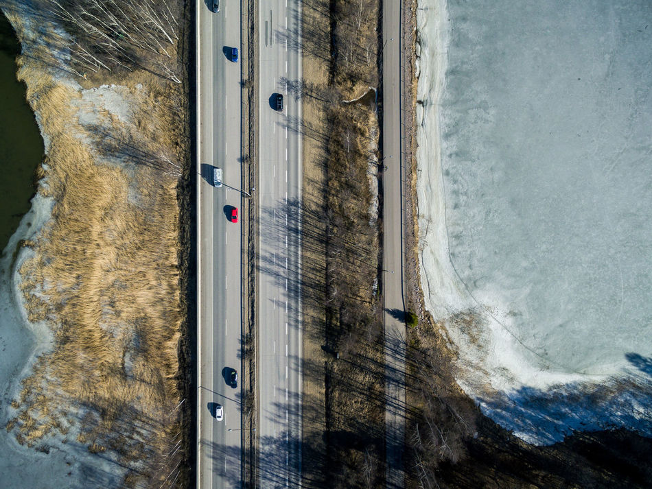 Aerial View Architecture Beach Beauty In Nature Day Drone  Finland Helsinki Highway Nature No People Outdoors Road Sea Sky Top Perspective Top View Transportation Water