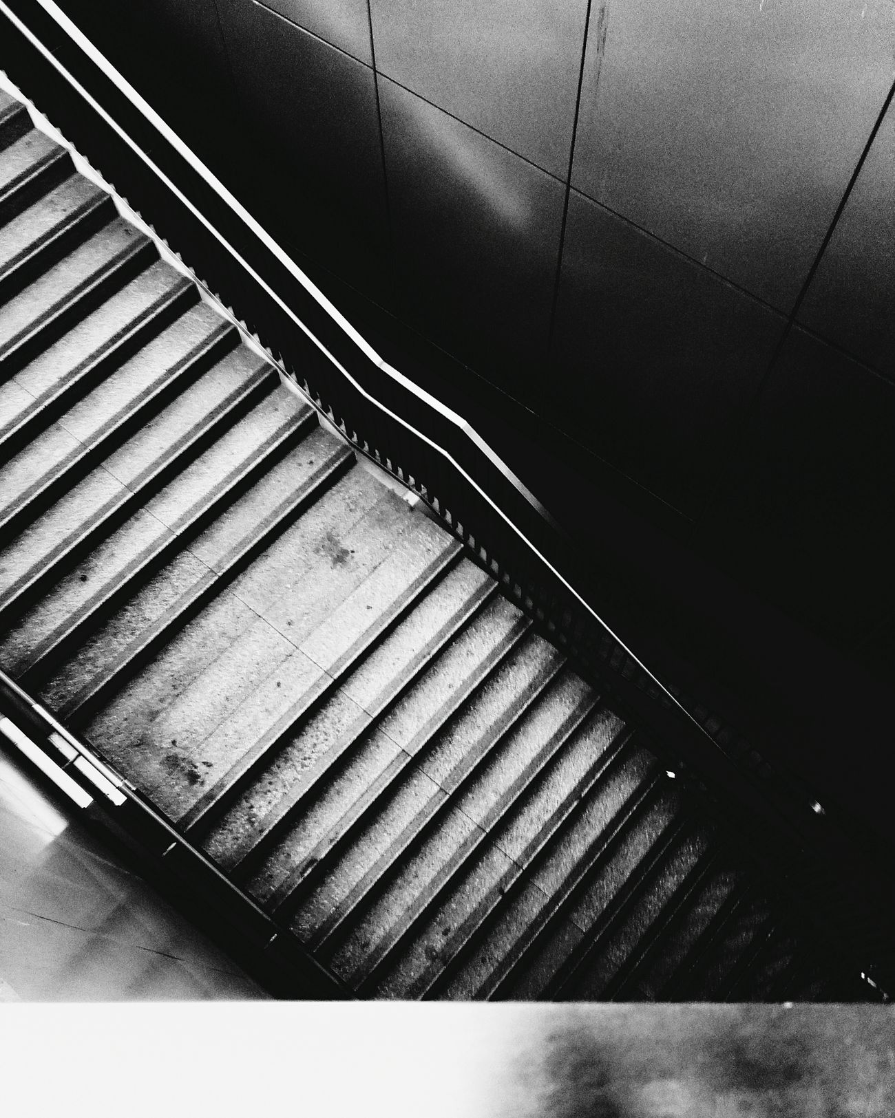 Its been a while... Blackandwhite Stairways Urban Geometry Looking Down Empty Places