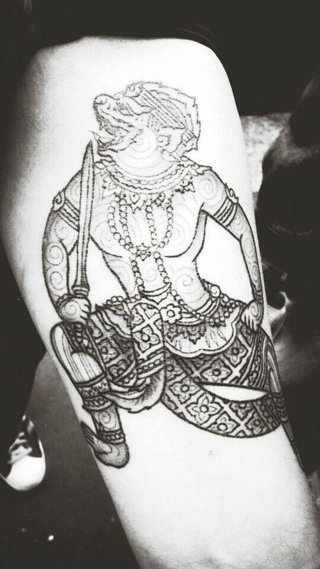 mon tattoo Hanumann Tatouages Cambodge Tatoo Tatoo Art