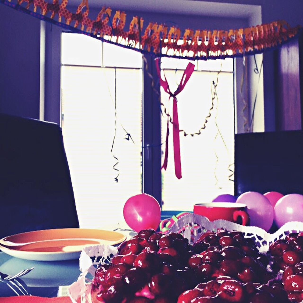 table, food and drink, indoors, food, balloon, no people, plate, sweet food, freshness, day