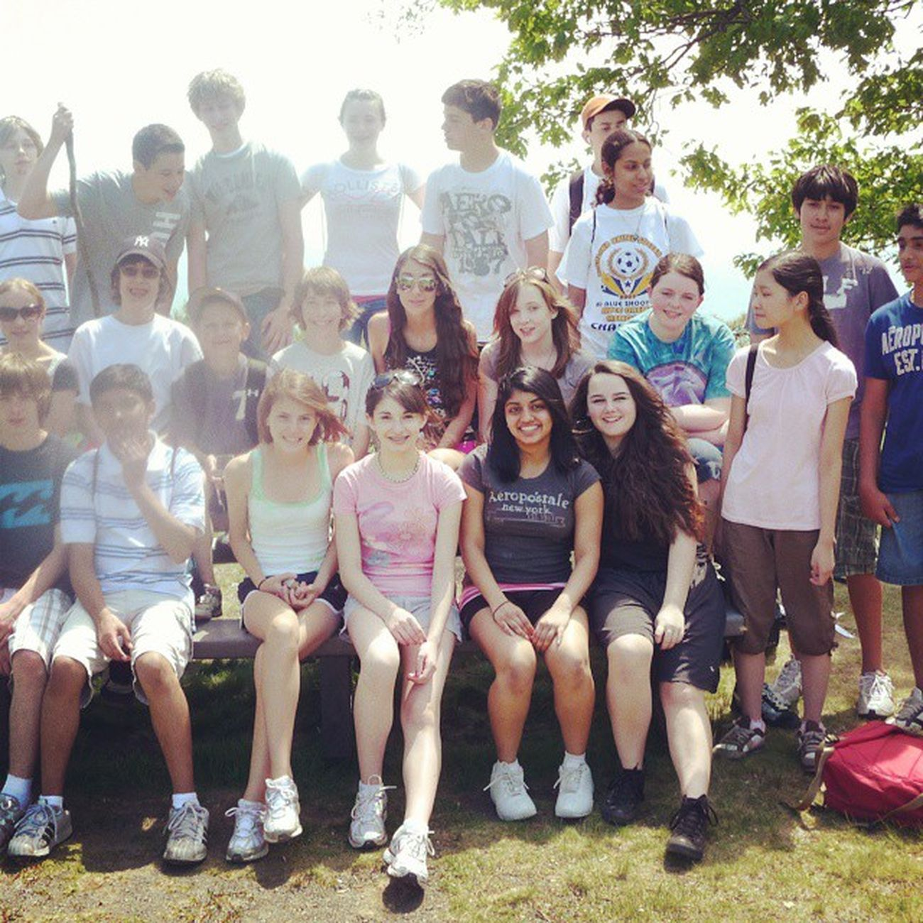 TBT  throwback to when Heffernan's eighth grade science class took a trip to Minnewaska Youngstuds