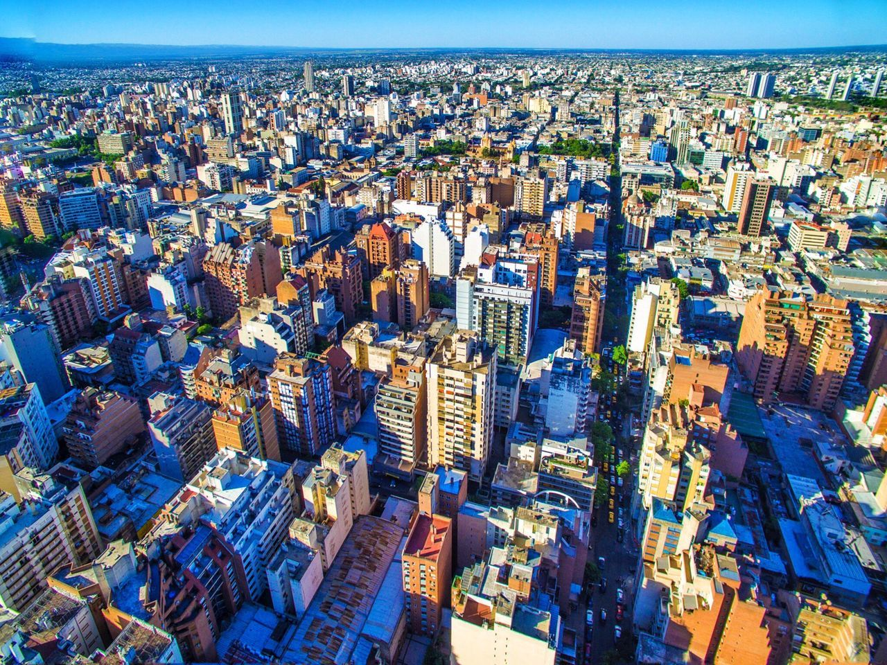Cityscape City Skyscraper Aerial View Crowded Architecture Building Exterior High Angle View Modern Travel Destinations Urban Skyline Fish-eye Lens Blue Outdoors Day Sky People