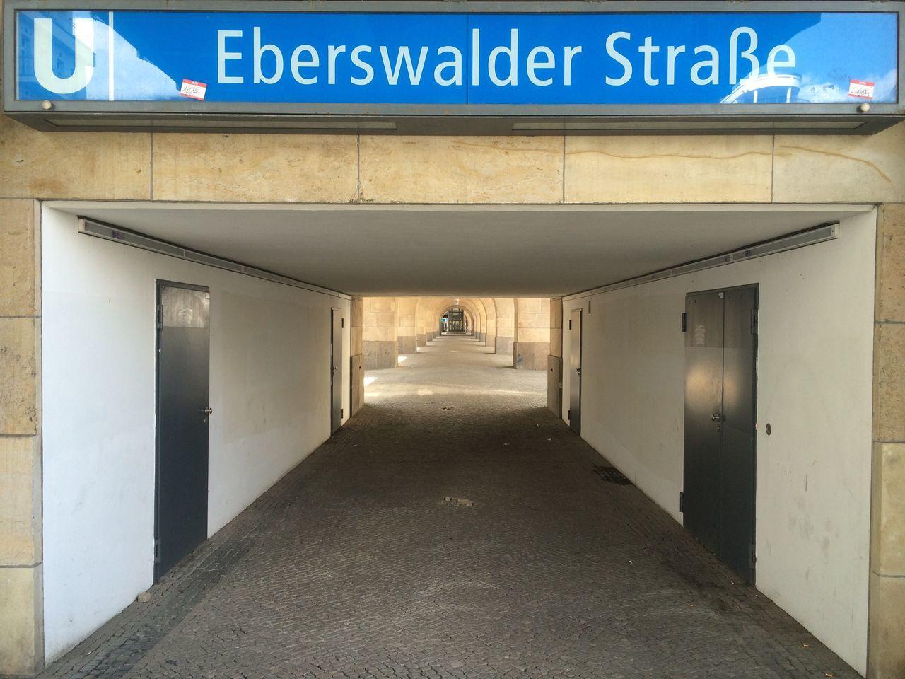 Text At Entrance Of Subway Station