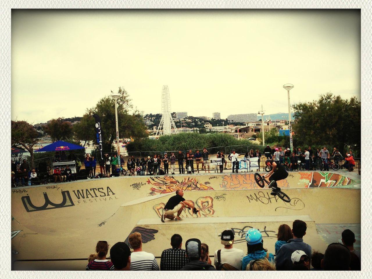 Ils envoyaient du lourd les minots marseillais au WATSAFestival !-{O> BMX Contest