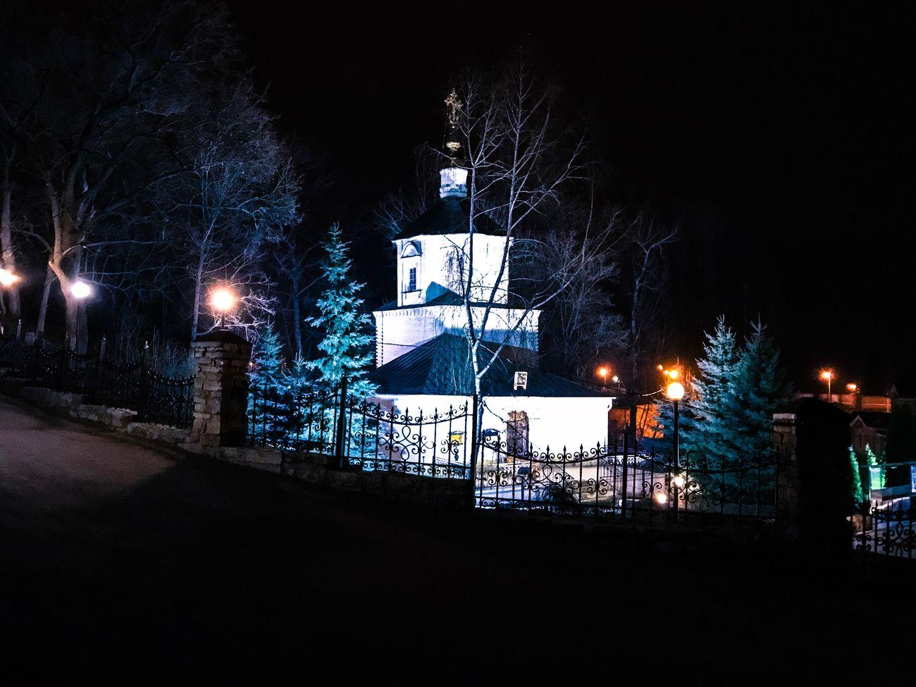 Night Illuminated Street Light Building Exterior Outdoors Bare Tree Tree Sky Architecture No People Lipetsk липецк
