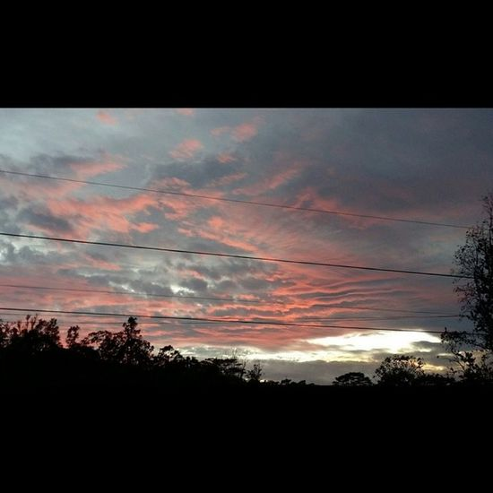 My View Luckywelivehawaii Loveithere 808love Bigislandlove Nofilter No_edits NaturalBeauty Lovemyhawaii Sunset Puna Thatsky Red Fire Clouds
