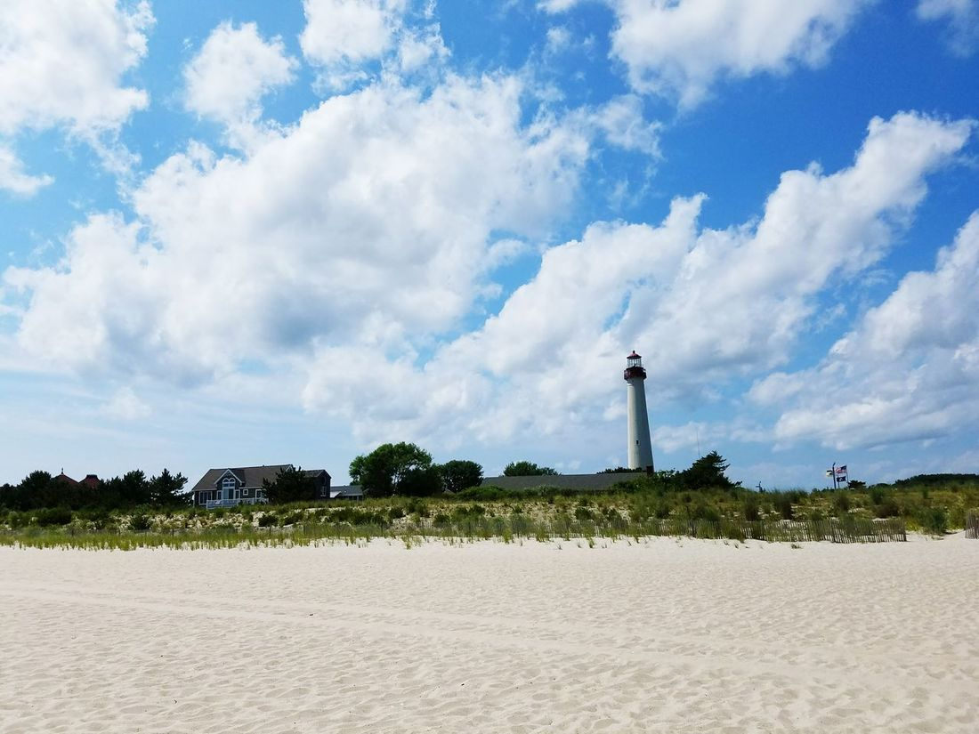 by the beach Lighthouse Clouds Cape May, NJ Capetown By The Sea Summer Sky