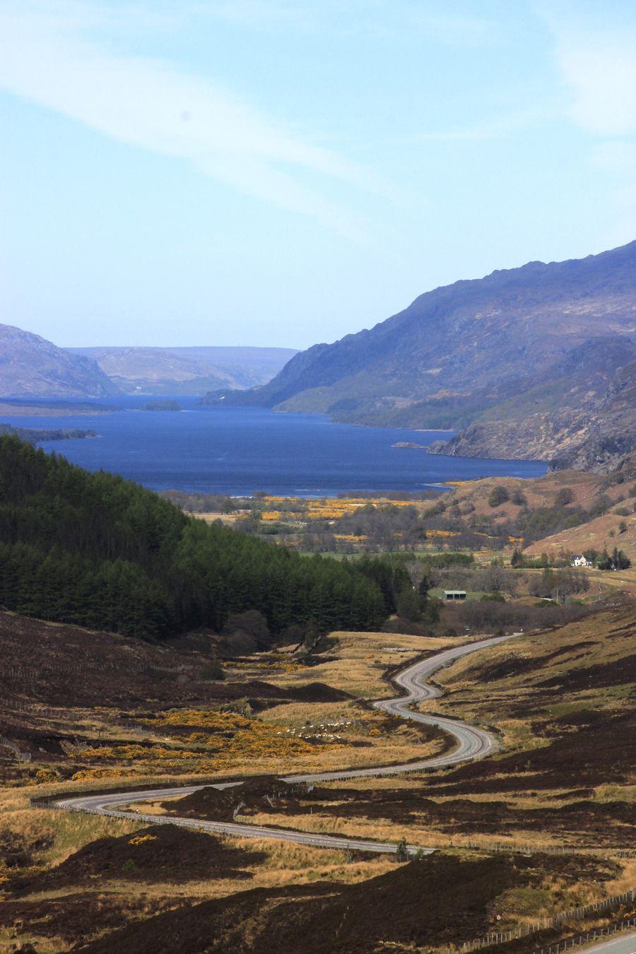 The wonderful winding road down to Loch Maree Mountain Landscape Winding Road Lochmaree Scottish Highlands Sunny Day EyeEm Best Shots Travelscotland Travel