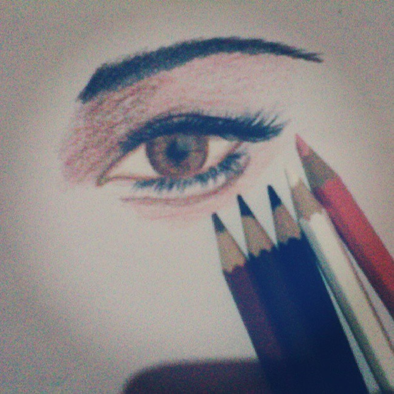 The Eye Right Pencil_colour Instadaily instaart learn