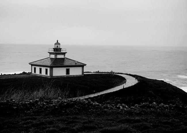Facing The Ocean Ribadeo Lighthouse Illa Pancha Black And White Monochrome Shades Of Grey Echándote De Menos / CdB