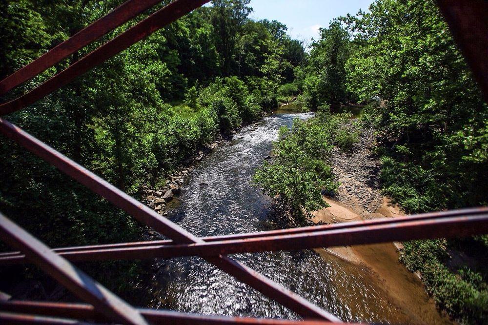 Bollman Truss Bridge Truss Bridge Iron Bridge Steel Bridges Stream Landscape Maryland Patuxant River JGLowe