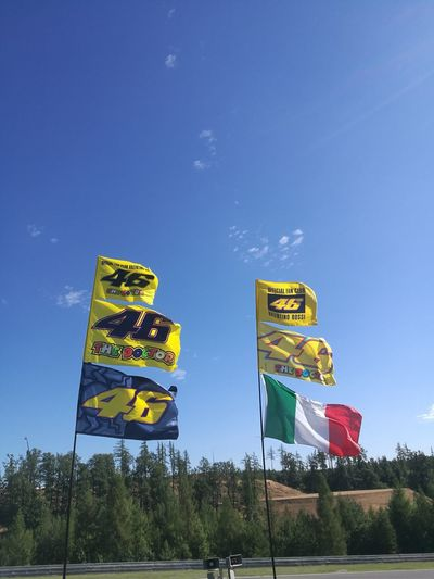 Brno Czech Republic🇨🇿 Motogp Racetrack ValentinoRossi The Doctor 46 Flags In The Wind  Outdoors Sky The Week On EyeEm