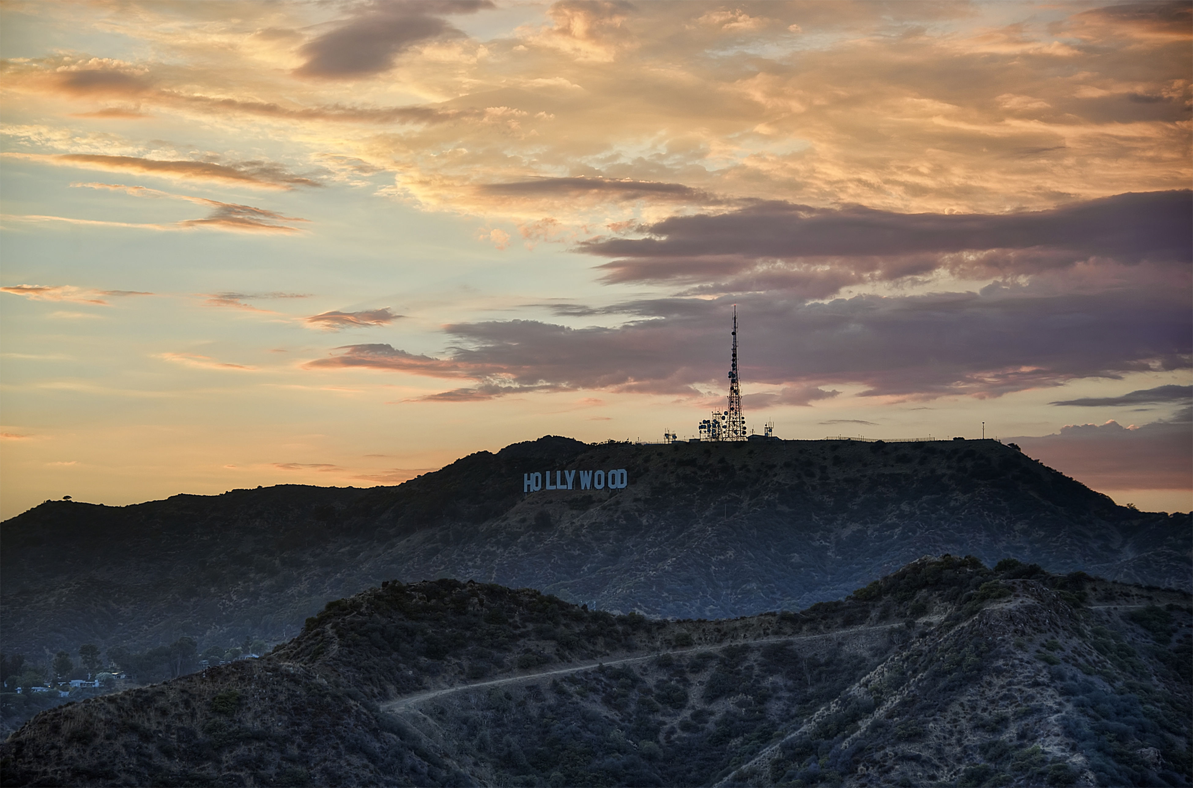 Hollywood Hills Photography Sunset
