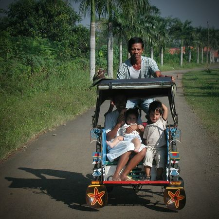 Beauty Redefined INDONESIA My Sons Capturing Freedom Taxi Becak