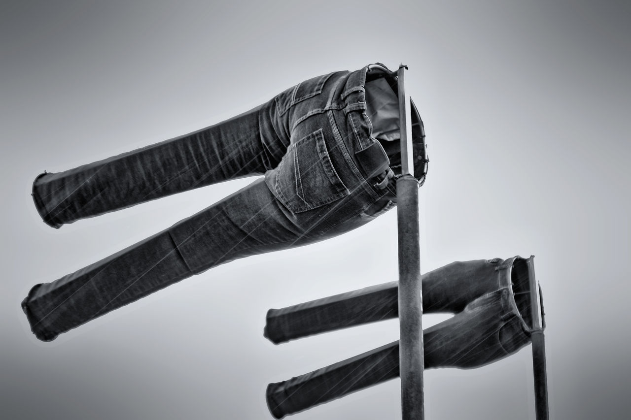 Wind Cone Air Sock Anemometer Black & White Black And White Blackandwhite Blue Jeans Bw BW Collection Detail Hose Jeans Monochrome No People Objects Overcast Stormy Stormy Weather Trouser  Trousers Weather Wind Wind Cone Wind Force Windy Windy Day