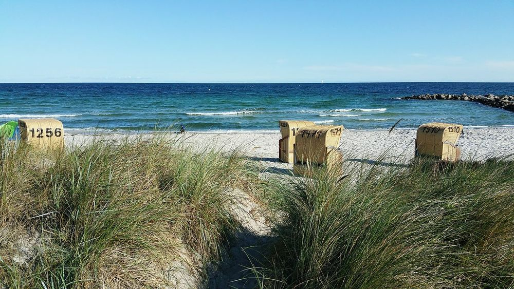 Sea Beach Horizon Over Water Sky Outdoors Water Sand Day Sunlight Nature No People Tranquility Sunny Scenics Clear Sky Beauty In Nature Vacations Summer Shadow Kalifornien Heidkate Schleswig-Holstein Probstei Holm Beauty In Nature