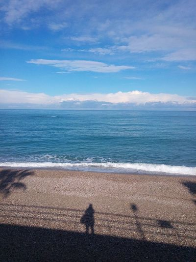 Light And Shadow Schadow Life In Motion Sicily, Italy Capo D'Orlando Sea Life Sea And Sky Sea Beach Water Horizon Over Water Sand Nature Beauty In Nature Tranquility Scenics Shadow One Person Day Tranquil Scene Outdoors