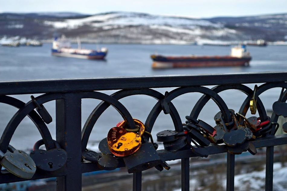 Joy meeting with her beloved! Bridge - Man Made Structure Close-up Day Love Lock Love ♥ Metal Nature Nautical Vessel No People Outdoors Padlock Port Railing River Sea Sky The Secret Spaces Transportation Water Yacht