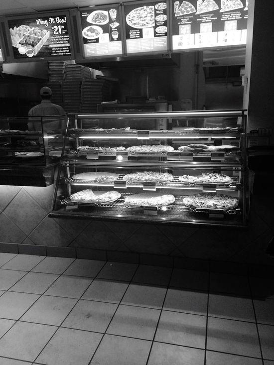Toronto Pizza Fast Food Pizzaria Pizza Shop Blackandwhite Bnw
