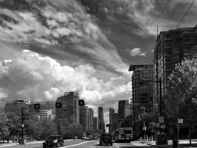 Cityscapes Clouds And Sky Blackandwhite Streetphotography Architecture Structures Skyline