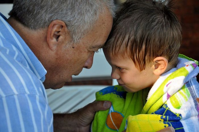 Childhood Elementary Age Togetherness Boys Love Cute Leisure Activity Lifestyles Innocence Close-up Grandpa Grandson Grandsonlove Baby Boy Growing Up Too Fast