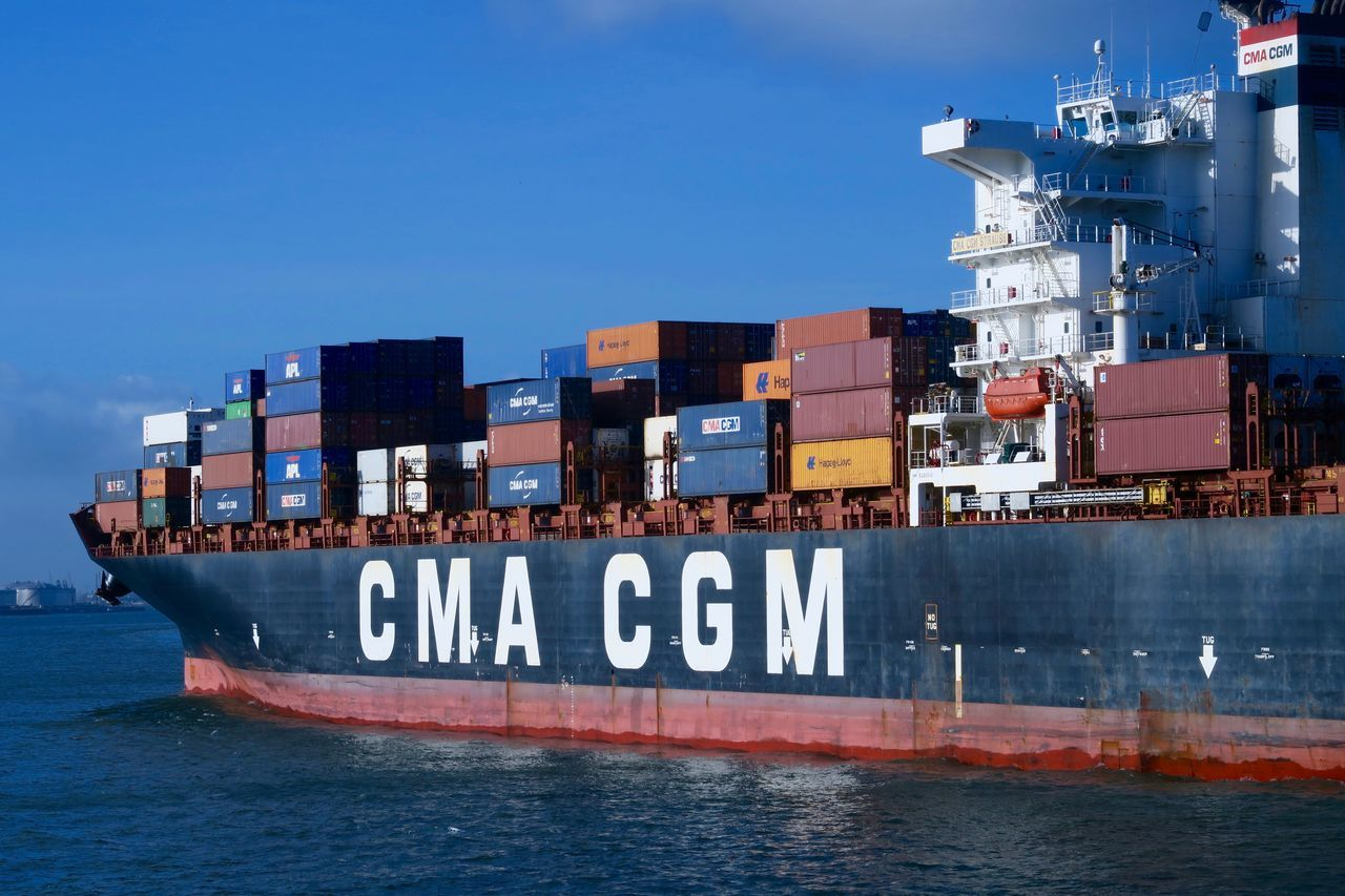 Business Business Finance And Industry Cargo Container Commercial Dock Container Container Ship Day Freight Transportation Harbor Industry Nautical Vessel No People Outdoors Sea Shipping  Sky Trading Transportation Water