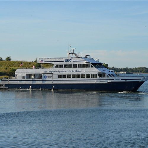 The boat i used to work on the Aurora !! BostonMassachusetts Bostonharborcruises BHC Boat Catamaran Mass Massachusetts