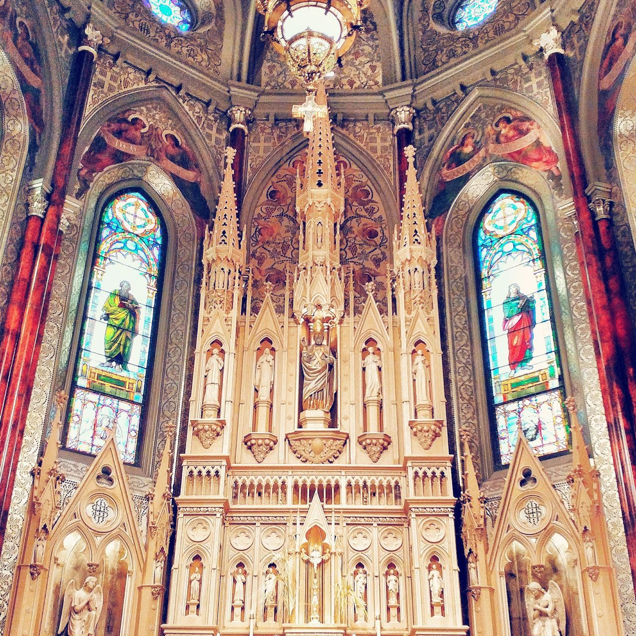 Religion No People Art And CraftPlace Of Worship Spirituality Architecture Multi Colored Built Structure Indoors  First Eyeem Photo