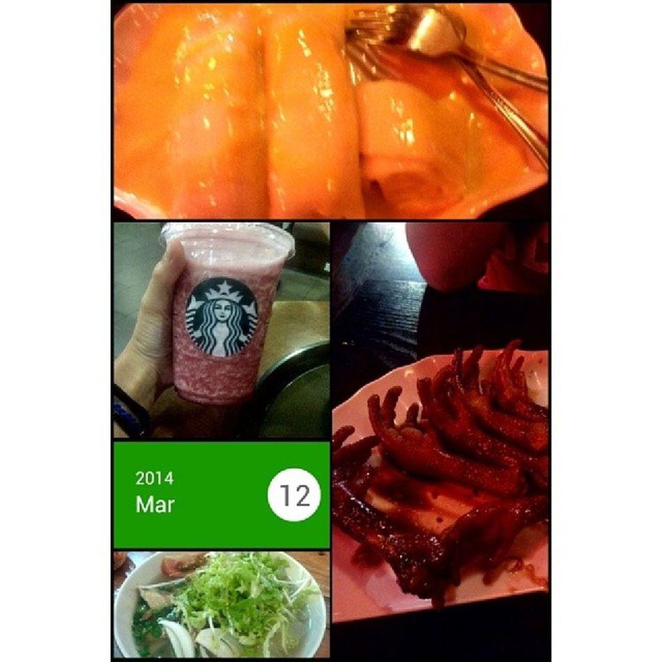 Tối nay mình chạy show dữ quá mà :3 Starbuck DuongBaHo Jellyfishricenoodle Food drink