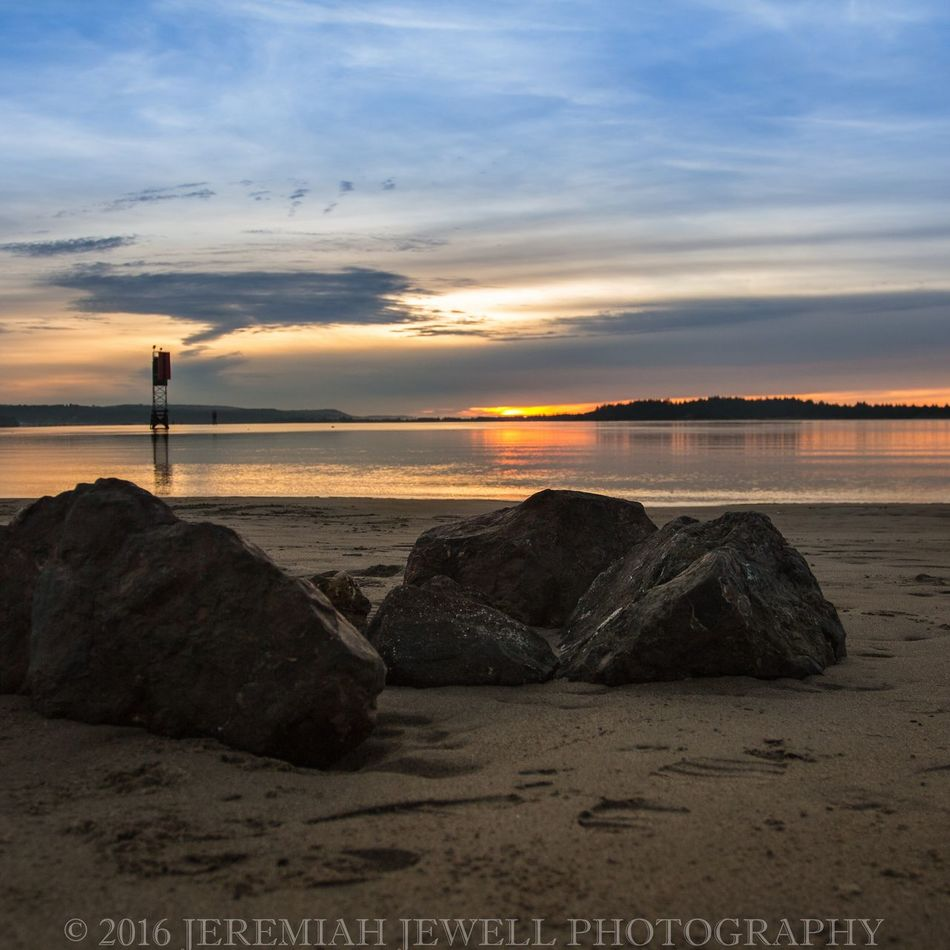 Jeremiah Jewell Photography Oregon Coast Empire North Bend Beauty In Nature Sunset Water Outdoors Tranquil Scene Sand Nature Canonphotography Outdoor Photography DSLR Photography Pacific Northwest  Reflection Coos Bay Beauty In Nature Dramatic Sky Travel Destinations Beach Sea Bay