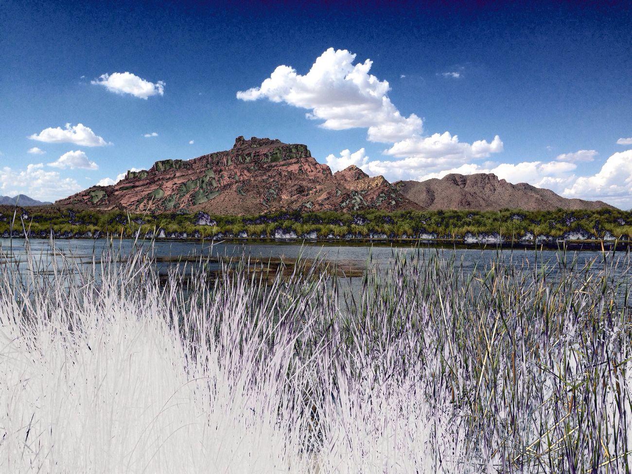 Arizona River Sunny Day Salt River Tubing