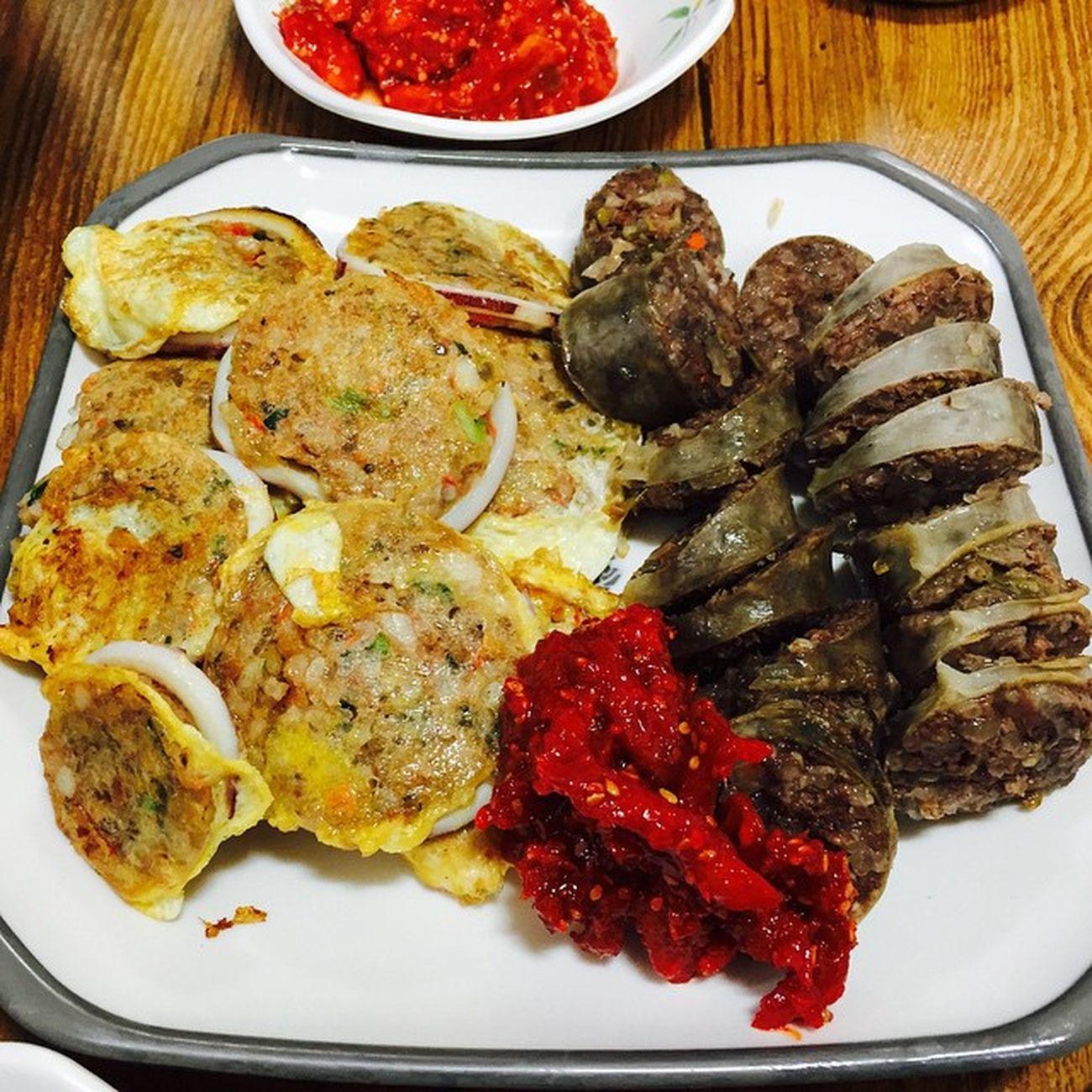 속초 아바이순대 오징어순대 먹스타그램 먹방 Goodfood